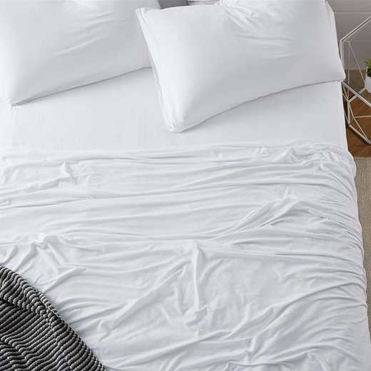 BAREBS-BYB-WHT-TXL: Bare Bottom Sheets All Season Twin XL Bedding White