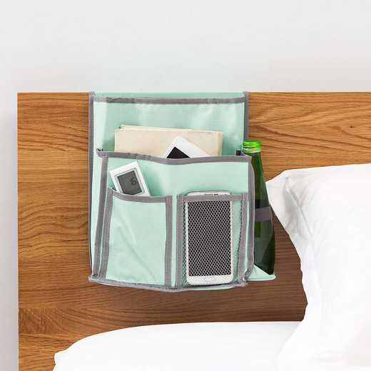 E3-3-2-BEDSIDE-MINT: DormCo Bedside Caddy - TUSK College Storage - Calm Mint