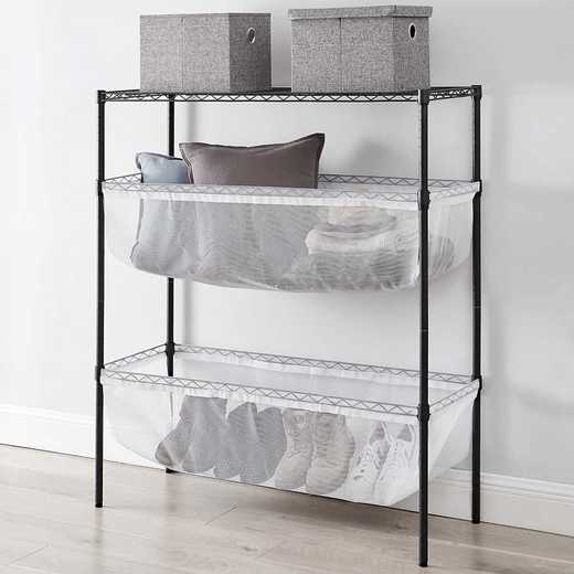 SSS-BS-WHTMESH: DormCo Suprima Shelf Supreme - Bin Style - Black