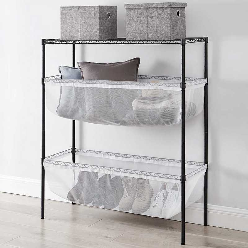 SSS-BS-WHTMESH: DormCo Suprima Shelf Supreme - Bin Style - Black