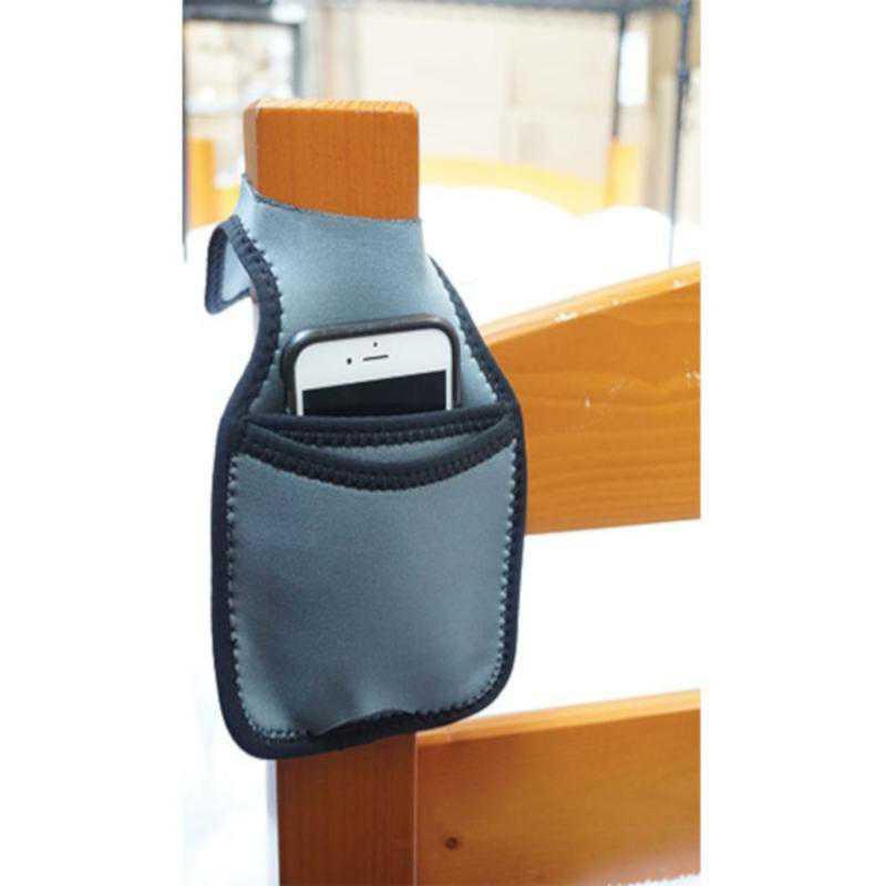 A-BIN-BP200-GRAY: DormCo College Bedside Bunk Storage Pocket - Gray