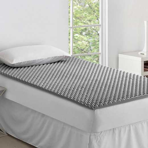 BYB-T07-CLASSIC: Classic Foam Twin XL Bedding Topper - Nighttime Gray