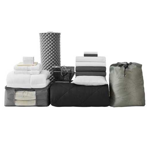 UPGRADED-BLK: TwinXL  Dorm Bed Pck-TwinXL-Blk Set
