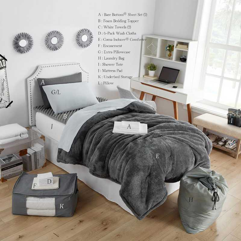 College Dorm Bedding Sets.College Dorm Bedding Upgraded Pack Twin Xl Coma Inducer Charcoal Color Set