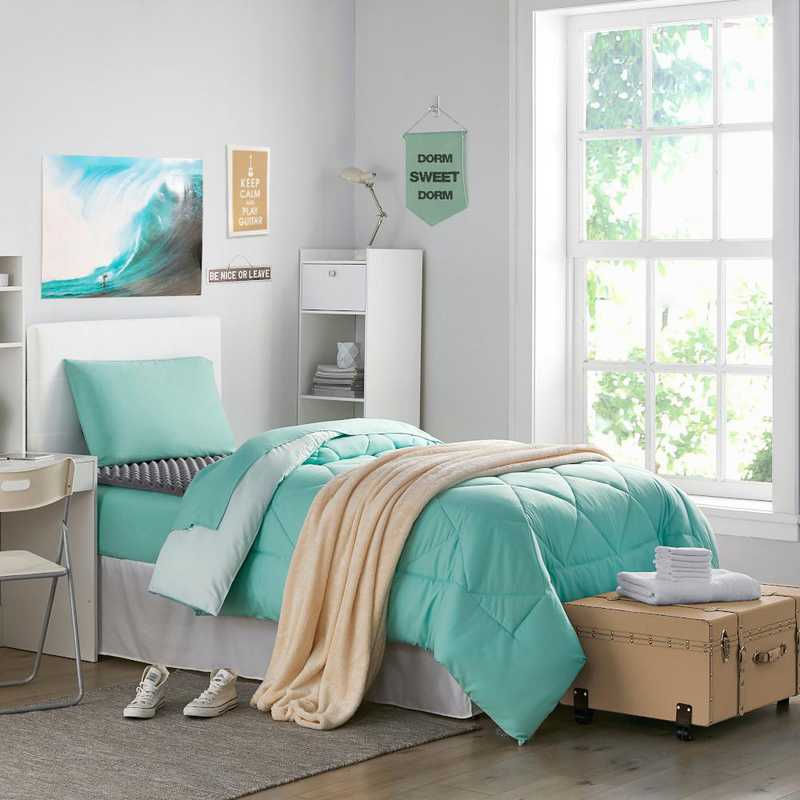 Cool College Dorm Essentials Pack Twin Xl Yucca Hint Of Mint Color Set Download Free Architecture Designs Scobabritishbridgeorg