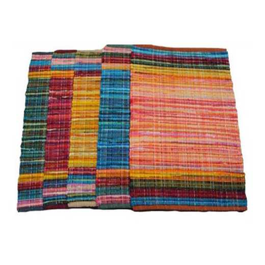 "RUG-AMBA-08-RED-40x60: Color Splash Dorm Rug - Pure Cotton - Red (40"" x 60"")"