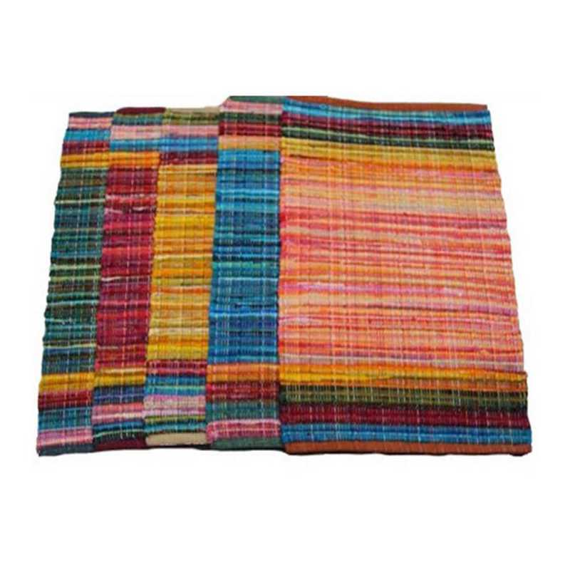 RUG-AMBA-08-YLW-5X7: Color Splash Dorm Rug - Pure Cotton - Yellow (5' x 7')