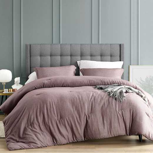 406B-COMF-TXL: DormCo Croscutt - Rhubarb Brown - Twin XL Dorm Comforter