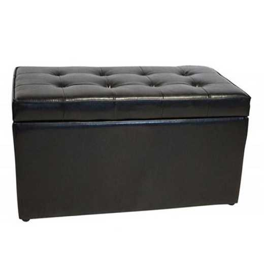 TDB-SS-BLK: The Dorm Bench - Storage Seating - Black