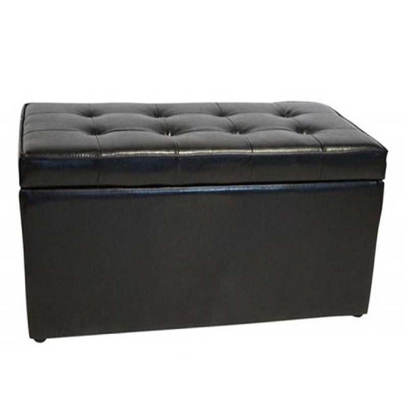 TDB-SS-BLK: The Dorm Bench - Storage Seating - Black