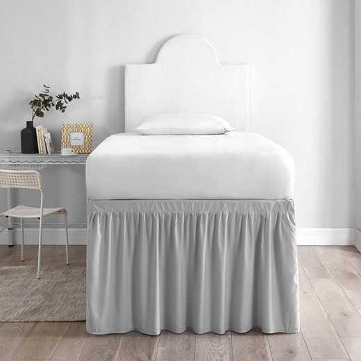 DS-BSP-GG-1P: DormCo Dorm Sized Bed Skirt Panel w/Ties(1Panel)GlacierGry