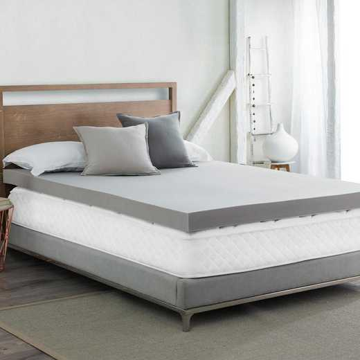 "BYB-T06: Dormco 4"" Memory Foam Twin XL Bedding Topper-nightime gray"