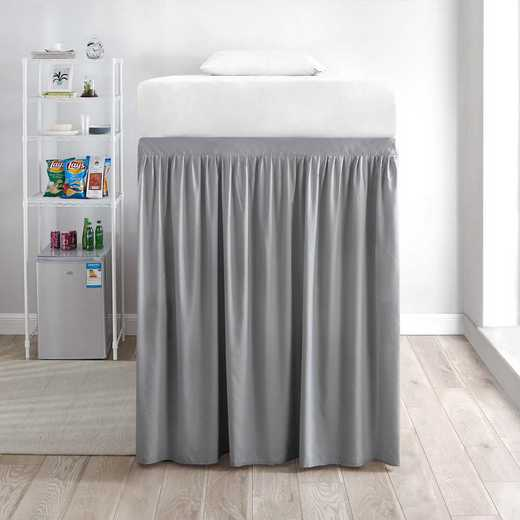 DS-BSP-EXT-ALY-1P: DormCo Ext Dorm Bed Skirt Panel w/Ties(1Pnl) Alloy