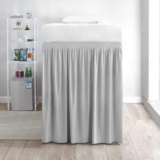 DS-BSP-EXT-GG-1P: DormCo Extended Dorm Bed Skirt Panel w/Ties(1Panel)GlcrGry
