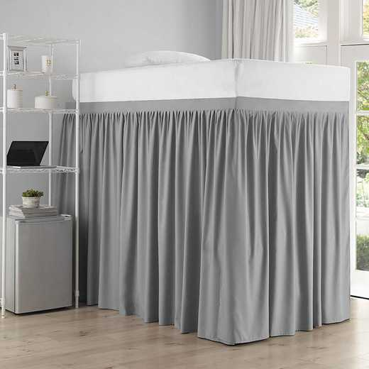 DS-BSP-EXT-ALY-3P: DormCo Ext Dorm Sized Bed Skirt Panel w/ies (3Pnl St) Alloy