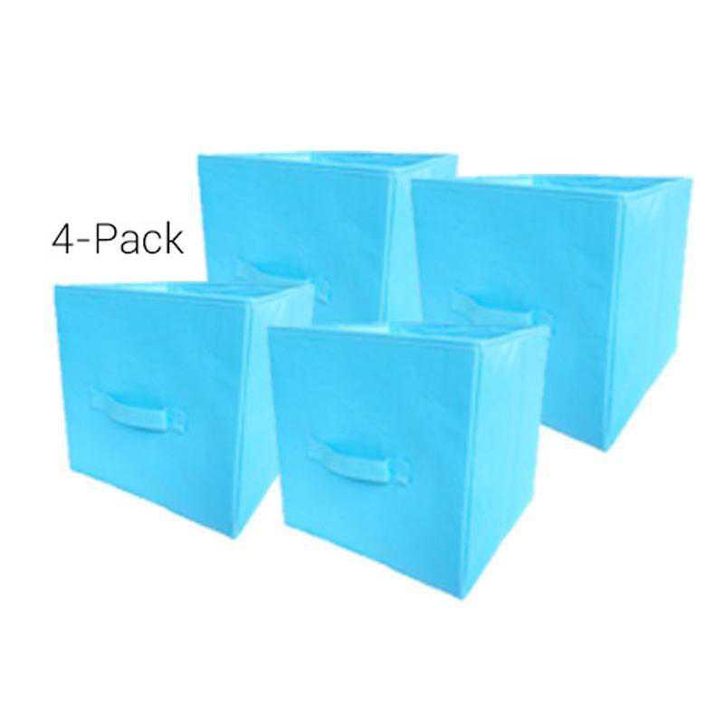 TUSK4-AQUA: DormCo TUSK Fold Up Cube 4-Pack Dorm Storage - Aqua
