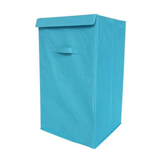 F3-1-1-25414-AQUA: DormCo Folding Laundry Hamper - TUSK College Storage - Aqua