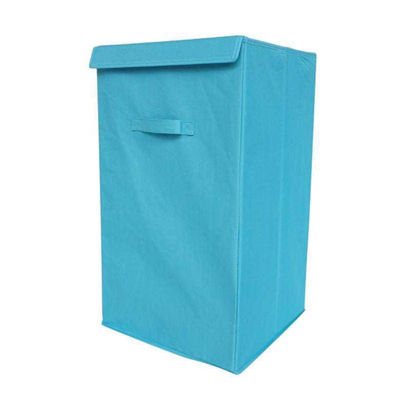 F3-1-1-25414-AQUA: DormCo Folding Laundry Hamper - TUSK College Storage - Aqua