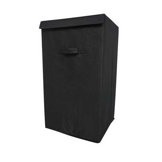 F3-1-1-25414-BLK: DormCo Folding Laundry Hamper - TUSK College Storage - Black