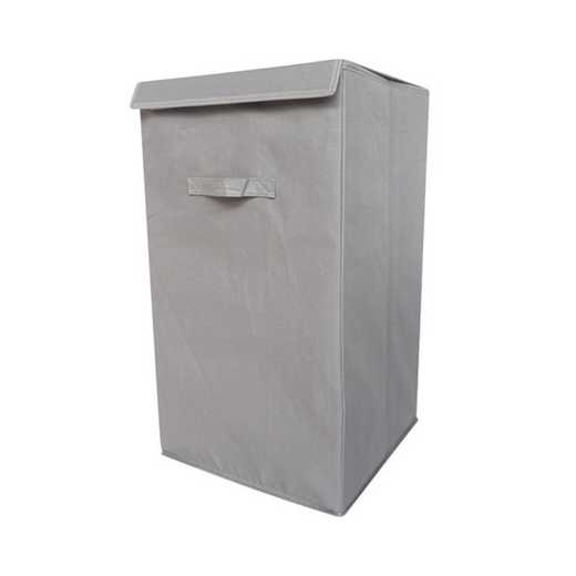 F3-1-1-25414-GRAY: DormCo Folding Laundry Hamper - TUSK College Storage - Gray