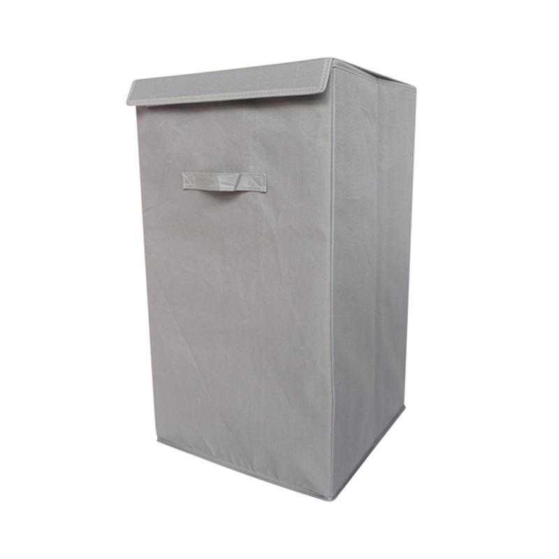 F3-1-1-25414-GRAY: DormCo Folding Laundry Hamper - TUSK College Storage - Gray