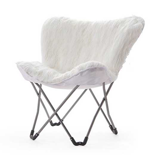 FUR-PUREWHT: Fur Butterfly Dorm Chair - White