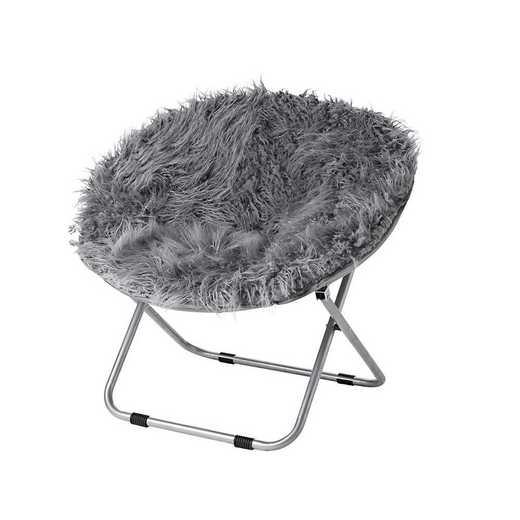FURMOON-DARKGRY: Fur Moon Dorm Chair - Dark Gray