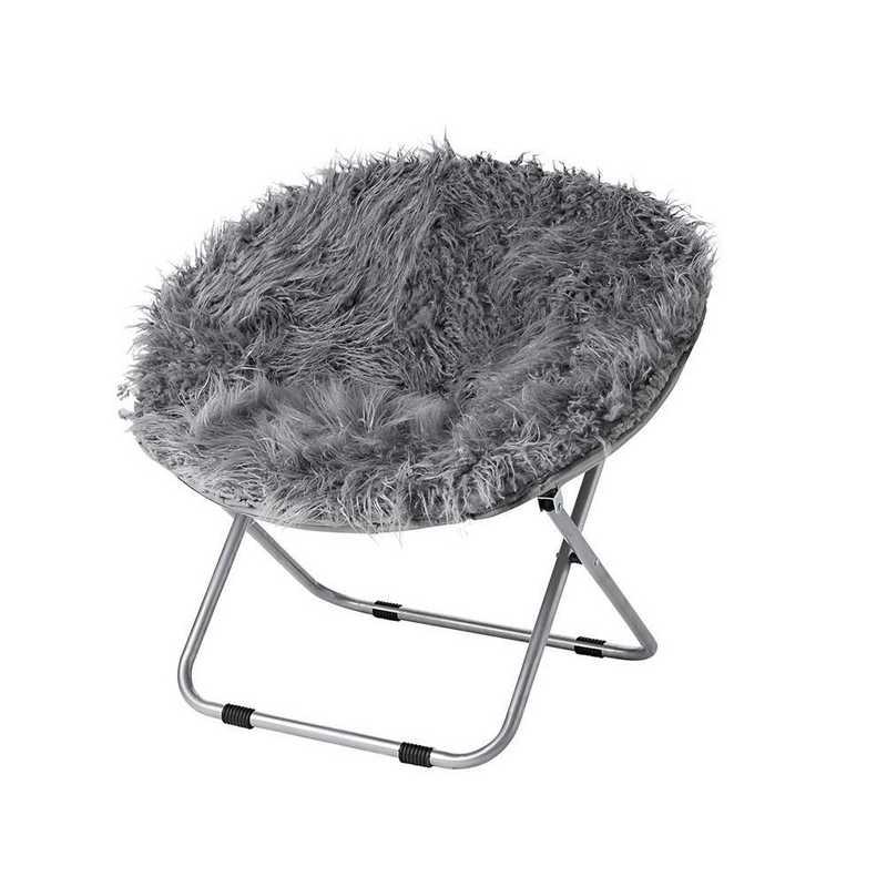 Astounding Fur Moon Dorm Chair Dark Gray Alphanode Cool Chair Designs And Ideas Alphanodeonline