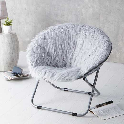 FURMOON-GRAY: Fur Moon Chair - Glacier Gray