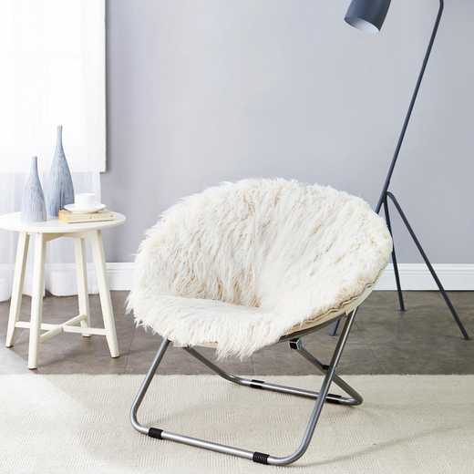FURMOON-WHT: Fur Moon Chair - Polar White