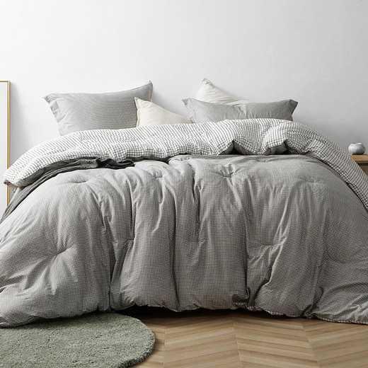 430-COMF-TXL: DormCo Gingham Gray - Twin XL Dorm Comforter
