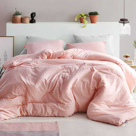 400B-COMF-TXL: DormCo Highlands Coral Pink - Twin XL Dorm Comforter