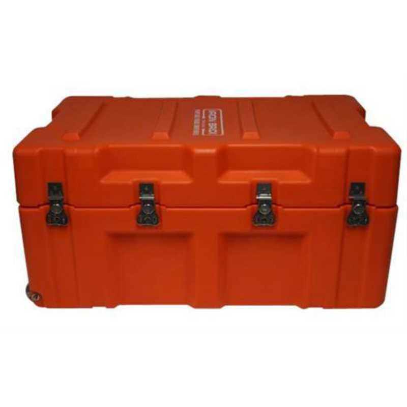 IBRICK-COLO-ORANGE: The Iron Brick Trunk - STRONGEST College Trunk - Orange
