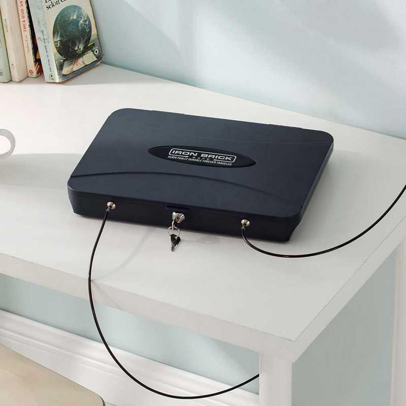 NEWX-14101-PC: DormCo Iron Brick Safe® - Go-Anywhere Laptop/Tablet/iPad