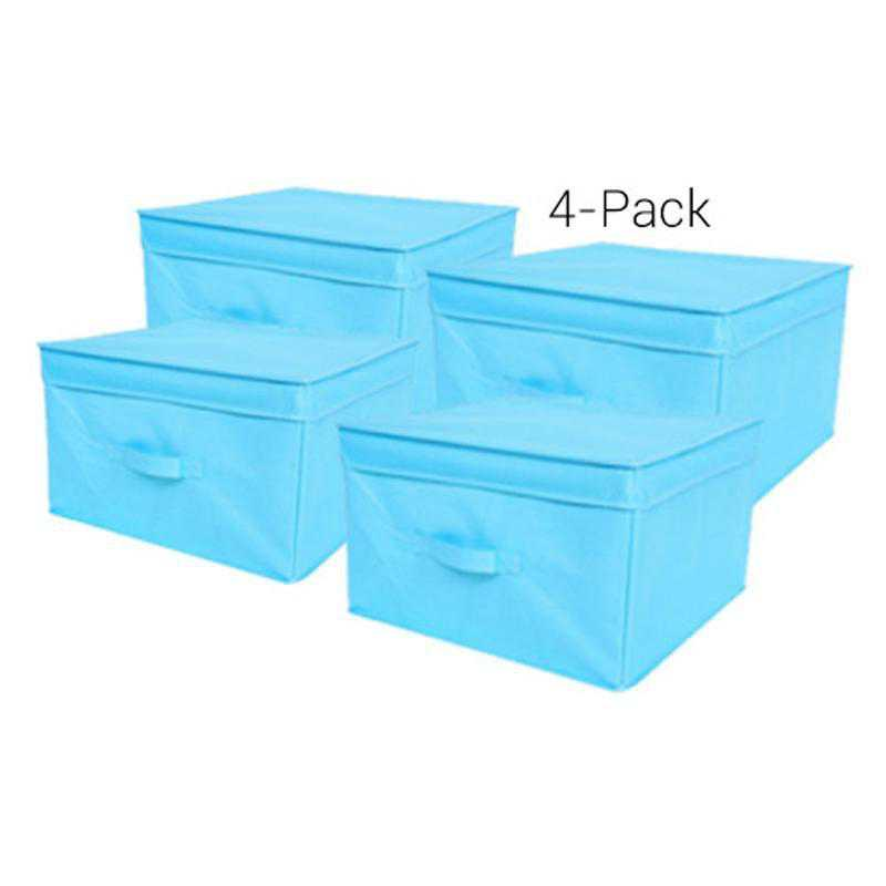 TUSK4JS-AQUA: DormCo TUSK Jumbo Dorm Storage Box 4-Pack - Aqua