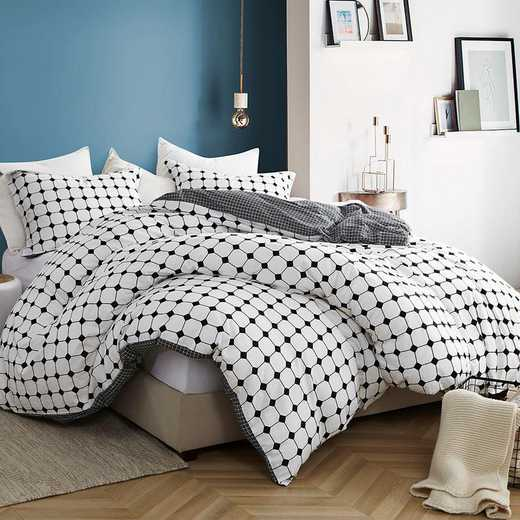 439-DUVT-TXL: DormCo Moda - Black and White - Twin XL Dorm Duvet Cover