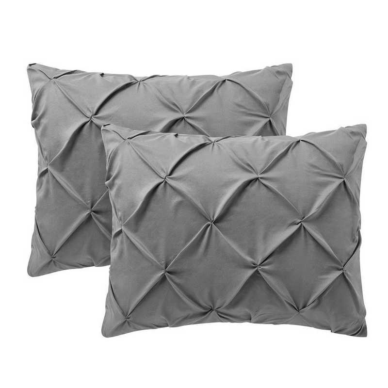 PIN-SSHAM-ALY: Alloy Pin Tuck Standard College Pillow Shams (2-Pack)