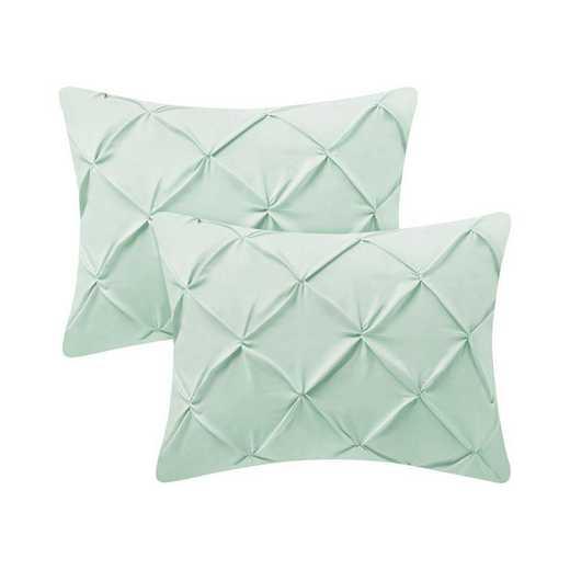 PIN-SSHAM-HOM: Hint of Mint Pin Tuck Standard College Pillow Shams (2-Pack)
