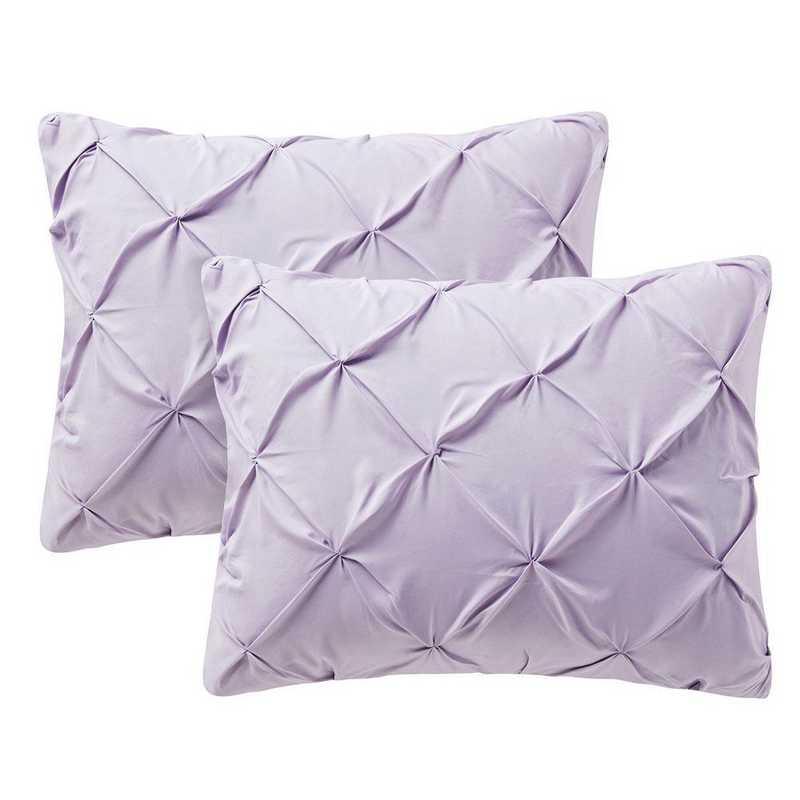 PIN-SSHAM-OP: Orchid Petal Pin Tuck Standard College Pillow Shams (2-Pack)