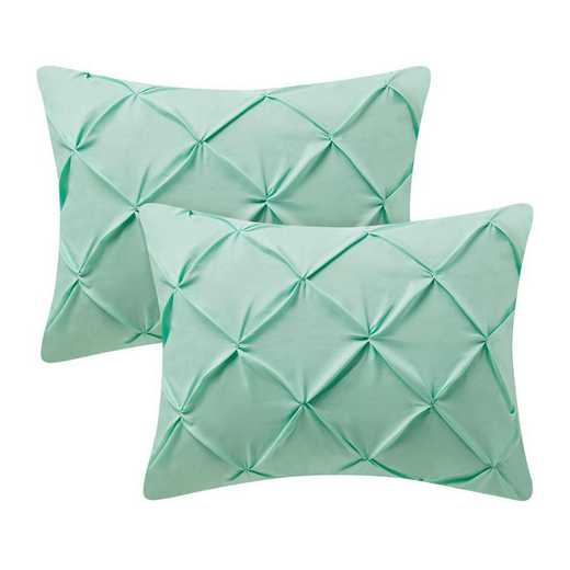PIN-SSHAM-YUC: Yucca Pin Tuck Standard College Pillow Shams (2-Pack)