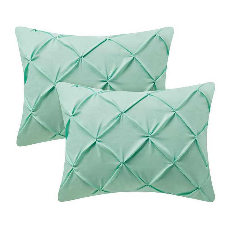 PIN-SSHAM-YUC: Yucca Pin Tuck Standard College Pillow Shams (2-Pack)