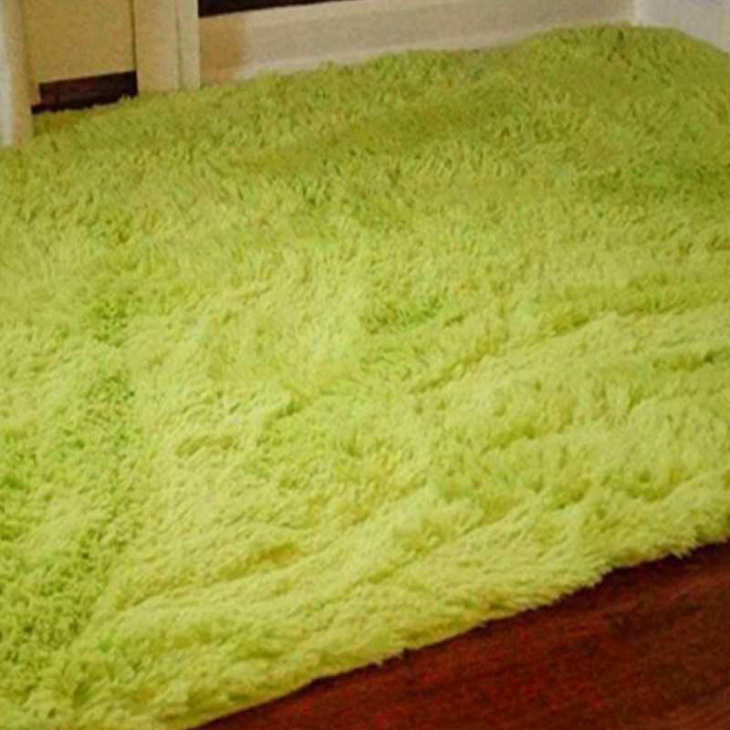 S1-S2-CPR3-4X6: College Plush Rug - Bright Lime - 4' x 6'