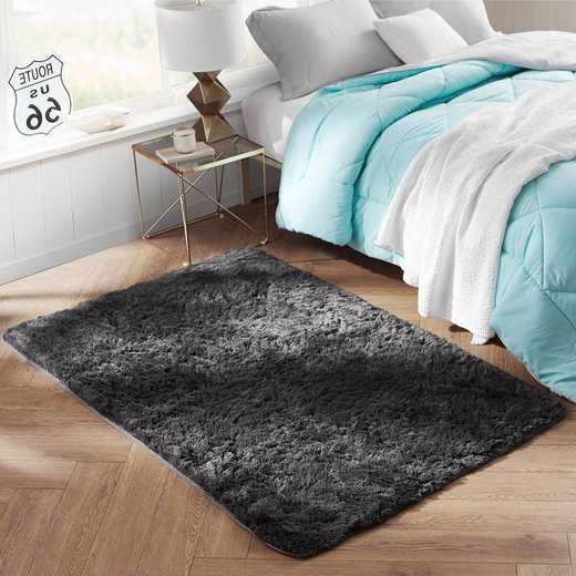 S1-S2-CPR4-4X6: College Plush Rug - Charcoal Gray - 4' x 6'