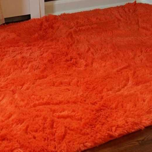 S1-S2-CPR1-4X6: College Plush Rug - Intense Orange - 4' x 6'