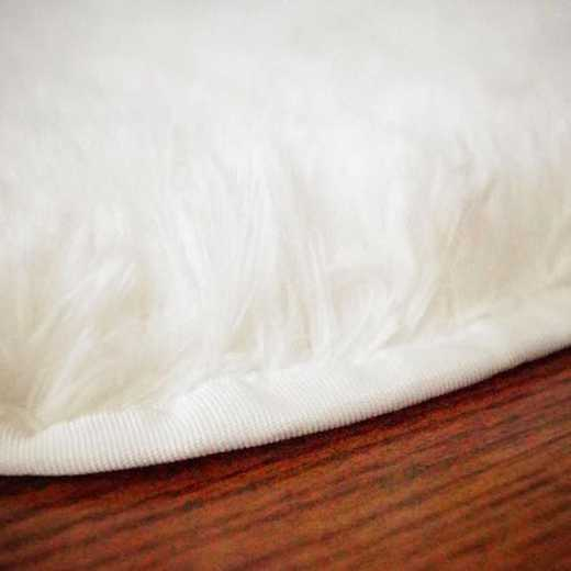 PLUSH09-WH-3X4: College Plush Rug - White - 3' x 4.75'