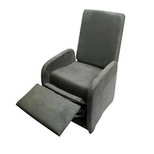 TC-RECLINER-GRAY: The College Recliner (Folds Compact) - Charcoal Gray