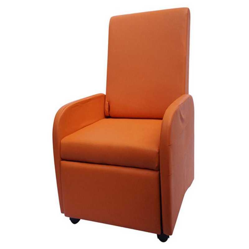 TC-VIN-ORANGE: The College Recliner (Folds Compact) - Orange
