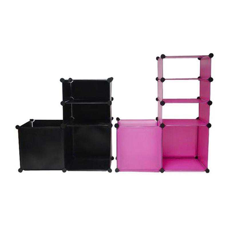 SNAPSCUBATH-LKL518-PINK: DormCo Snap Cubes - College Dorm Bathroom Access Holder Pink