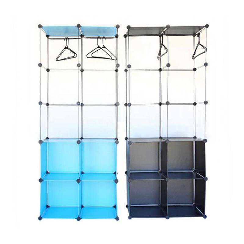 LKLGU2-SNAP-AQUA: DormCo Snap Cubes - Dorm Storage Clothes Organizer - Aqua