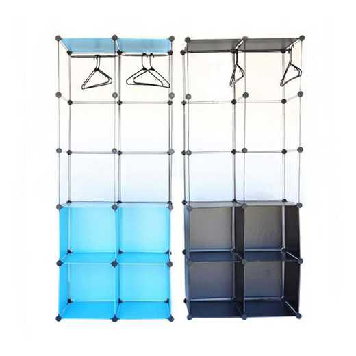LKLGU2-SNAP-BLK: DormCo Snap Cubes - Dorm Storage Clothes Organizer - Black